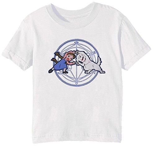 Vollmetall Verschmelzung HA! Kinder Unisex Jungen Mädchen T-Shirt Rundhals Weiß Kurzarm Größe M Kids Boys Girls White Medium Size M Chimera Medium Video