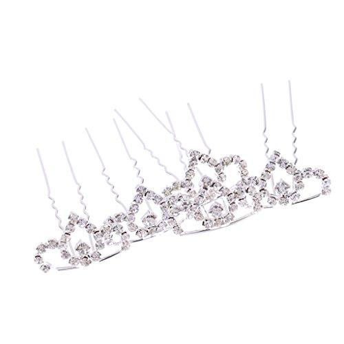 t Sparking Mini Tiara Kristall Krone Haarnadeln Haarschmuck ()