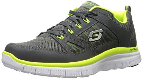 skechers-flex-advantage-zapatillas-de-deporte-hombre-gris-charcoal-lime-43-eu-9-uk