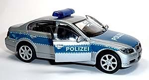 bmw 330i polizei blau silber polizeiauto modellauto welly. Black Bedroom Furniture Sets. Home Design Ideas