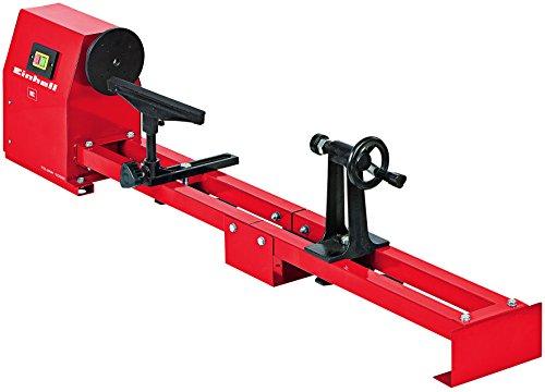 Einhell TC-WW 1000 - Torno de madera (350 W, torno Ø 356 mm, ancho de punta 100 cm, soporte para herramientas, marco de guía estable, transmisión por correa en V)