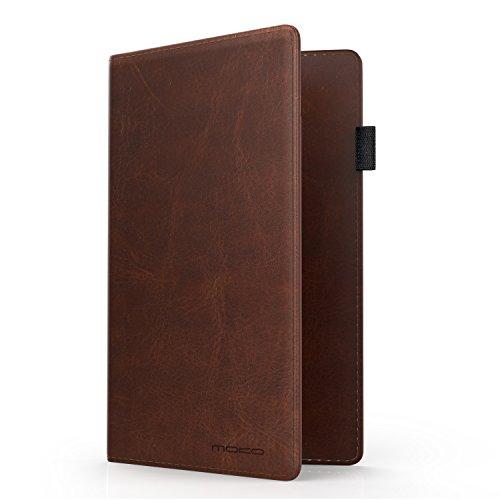 MoKo RFID-Schutz Reisepasshülle - 7,0 Zoll Premium Kunstleder Passport Hülle Schutzhülle für Kreditkarten, Ausweis und Reisedokumente, Braun (Reise-halter Pass)