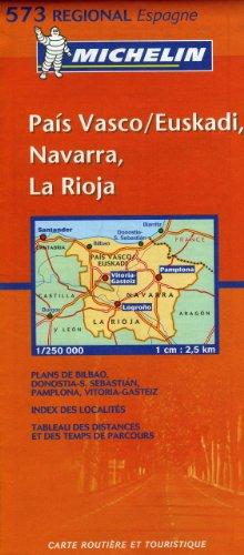 Pais Vasco/Euskadi, Navarra, La Rioja. : 1/250 000 (Régional France)