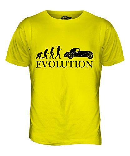 CandyMix Oldtimer Evolution Des Menschen Herren T Shirt Zitronengelb