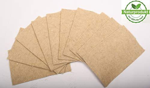 Nagerteppich aus 100% Bio-Hanf, 40 x 25cm, 5mm dick, 10er Pack (2,39 Euro/Stück), Nagermatte, Hanfmatte für Nagetiere -