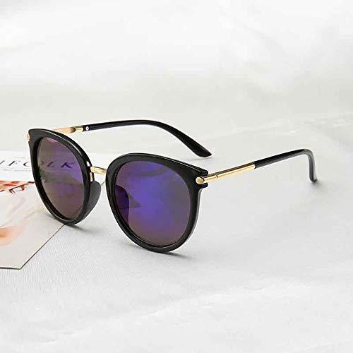 ZHOUYF Sonnenbrille Fahrerbrille Sonnenbrille Weibliche Treibende Spiegel Retro Weibliche Reflektierende Flache Linse Sonnenbrille Weibliche Augen Uv400, D