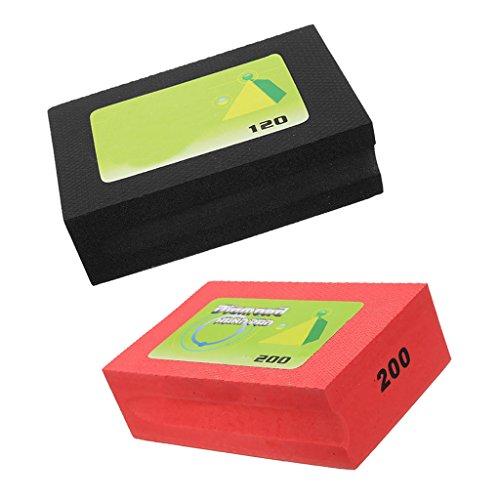 Homyl Diamant Handschleifpad Schleifschwamm Polieren Pads Set/2Stück - Rot + Schwarz