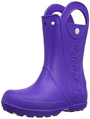 Crocs Handle It Unisex-Child Rain Boots - Purple (Ultraviolet), 6 UK Child