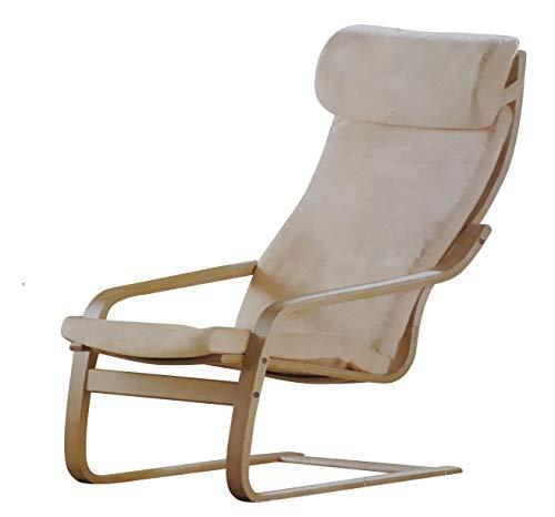 Relaxsessel Schwingsessel Sessel Ruhesessel Freischwinger Fernsehsessel beige