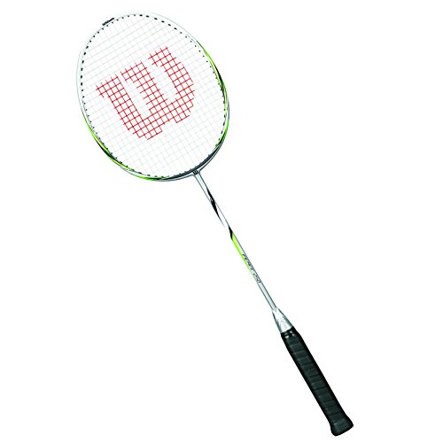 Wilson Raquette de Badminton Homme/Femme, Jeu en Toutes Zones, Avancés, Fierce 250, Taille 4, Argent/Blanc, WRT8710004