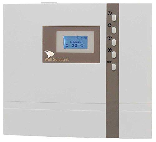 Intuitive Steuerung (Well Solutions® Design Bio Sauna Steuerung Premium H1 / Kombi Steuergerät für Bio Ofen bis 9 kW / MADE IN GERMANY)