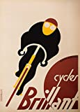 Vintage Cycling CYCLES BRILLANT c1935 by A.M Cassandre 250gsm Gloss Art Card A3 Reproduction Poster