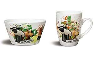 NICI 955450 bol shaun le mouton à café en porcelaine 37916 915