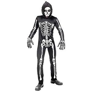 WIDMANN - Disfraz infantil de esqueleto, multicolor, (116 cm/4 - 5 años), 00065