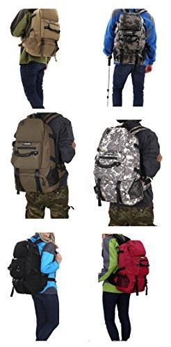 Outdoor peak Unisex in Nylon impermeabile Back Pack Ultra Sport Escursionismo zaino impermeabile trekking zaino borsa da viaggio zaino alpinismo arbeites Borsa 40litri, rot (rosso) - M-CORNER verde militare