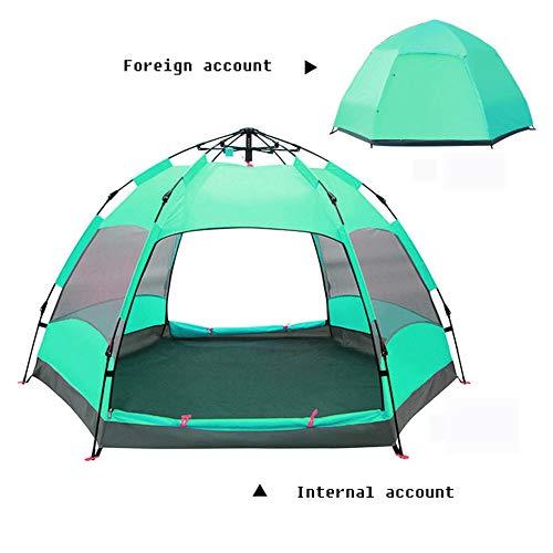Huihuida Outdoor 3-4 Personen Doppel Hex Strand Automatisches Zelt Camping Regendicht Zelt,Green