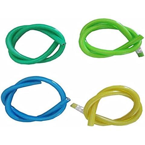 WINOMO Matita flessibile pieghevole con Eraser novità 30cm 12pcs morbido PVC verde (colore (Eraser Di Matita)