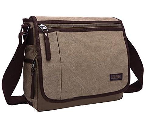 Super Modern Canvas Messenger Bag Shoulder Bag Laptop Bag Computer Bag Satchel Bag Bookbag School Bag Working Bag for Men and Women