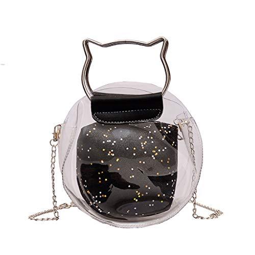 Louis Vuitton Canvas Tote Bag (Produp Frauen Transparente vielseitige Messenger Bag Schultertasche)