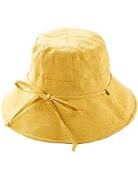 01333e9ff81 dragonaur Fashion Solid Color Bow Tied Folding Fisherman Hat Outdoor Sun Hat  Women Bucket Cap