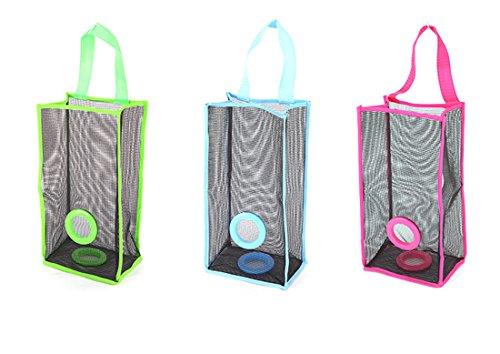 Spender Aufhängen Mesh Kunststoff Lebensmittels Storage Garbage Organizer für Home 3Pack Stil 1 (Vinyl-anzug-tasche Klare)