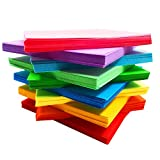 Carta per origami, Comius 400 Pcs Carta per Origami in 10 colori, 100 fogli da 20 cm x 20 cm + 100 fogli da 15 cm x 15 cm + 100 fogli da 10 cm x 10 cm + 100 fogli da 7cm x 7cm + 150 occhietti che si muovono