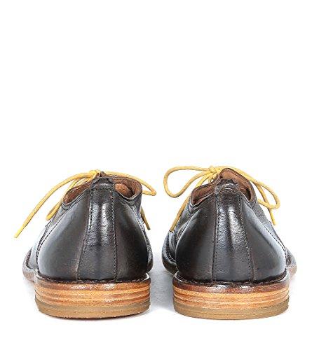 Derbies Moma réalisés en cuir ébène brun Brun