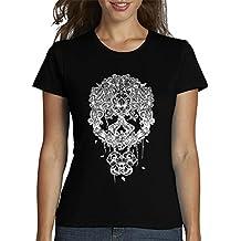 Para Calavera Mexicana Blanco Latostadora Camiseta Mujer wSFqAzZ