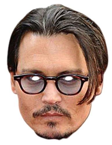 Faschingsfete Erwachsenen Johnny Depp Karneval Faschingsmaske, Mehrfarbig