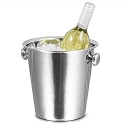 bar@drinkstuff Tulip Wein Eimer Edelstahl Wein Eimer, Sektkühler, Weinkühler, Flaschenkühler, Flasche Chiller, Ice Bucket