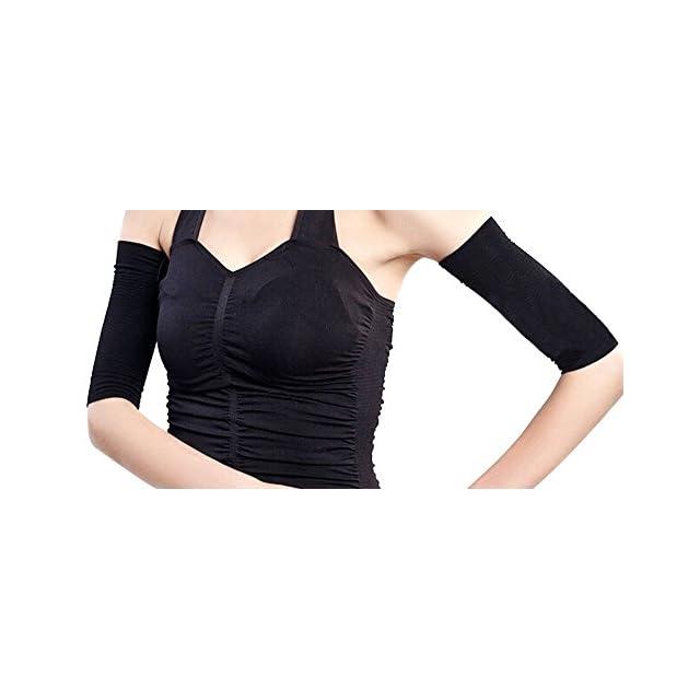 ... Manchon de Bras Compression Bras Manches Femme Shaper Amincissant  Minceur Noir 755761c75d3