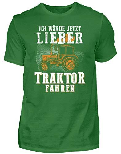 Traktor Shirt · Landwirtschaft · Geschenk für Landwirte · Spruch: Lieber Traktor Fahren - Herren Organic Shirt -M-Kelly Green