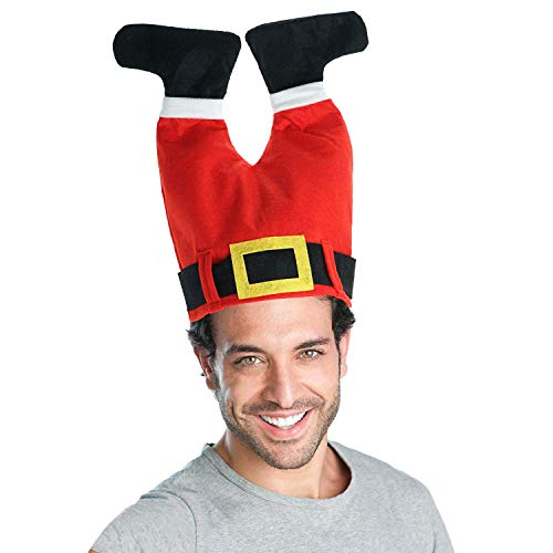 Weihnachtskostüm Lustige - Kompanion Weihnachtsmann-Mütze, Weihnachtskostüm und Zubehör, Lustige Weihnachtsmütze für Erwachsene und Kinder
