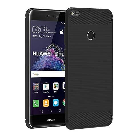 Coque Huawei P8 Lite Noir - Coque Huawei P8 Lite 2017 , iVoler