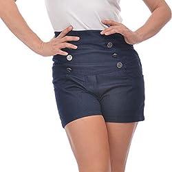 Steady - Pantalón corto - para mujer azul Large