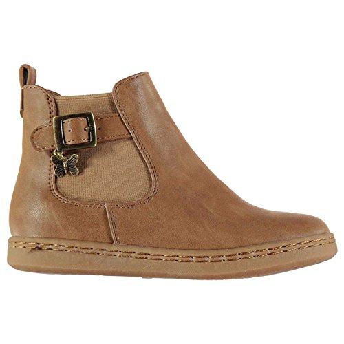 Graue Ankle-boots (Crafted Kinder Mädchen Gusset Stiefel Braun 31)