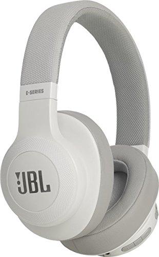 Jbl jble55btwht cuffie circumaurali con bluetooth, ripiegabili con microfono, bianco