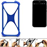 K-S-Trade Bumper für Cyrus CS 28 Silikon Schutz Hülle Handyhülle Silikoncase Softcase Cover Case Stoßschutz, blau (1x)