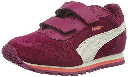 Puma St Runner Sd V Ps Scarpa da Running Red Plum/Whisper White/Porcelain Rose