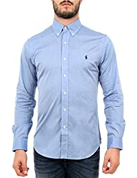 c8960fea6e17 Polo Ralph Lauren - Chemises Manches Longues Hommes - 710705269-004 - XL  Bleu Ciel