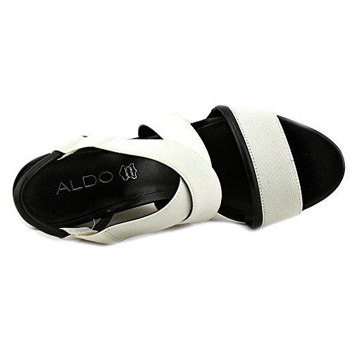 Aldo Glalle Offener Spitze Textile Keilabsätze White