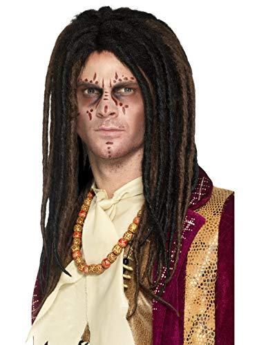 Deluxe Voodoo Rasta Locken Dreadlocks Perücke, Kostüm Accessoires Zubehör, perfekt für Halloween Karneval und Fasching, Braun ()