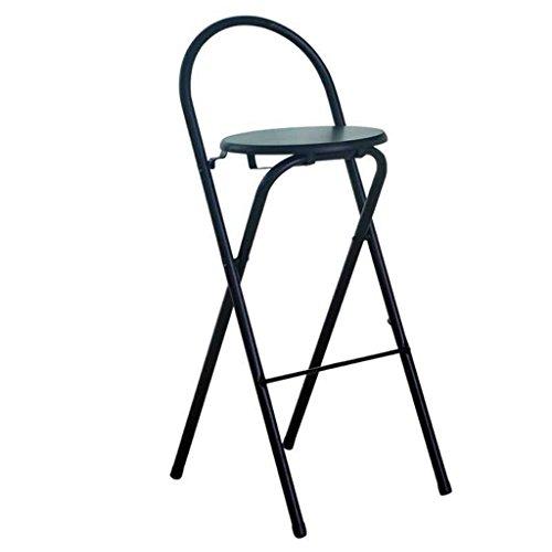 LIU RUOXI Möbel Round Seat Barhocker, Klappstuhl, Theke Höhe Metallstühle, Stühle Für Cafe, Bar, Restaurant, Küche,Black -