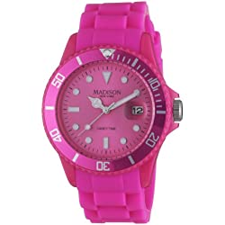 Madison New York Unisex Quartz Watch Analogue Display and Silicone Strap SU4167S