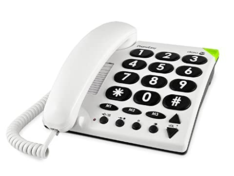 Doro 311c Big Button Corded Telephone - White