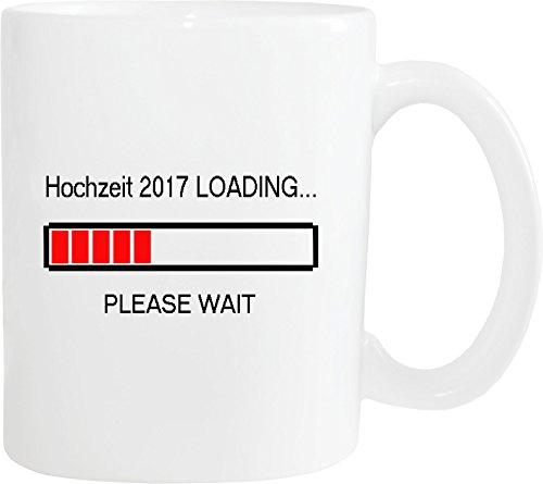 Mister Merchandise Kaffeebecher Tasse Hochzeit 2017 Loading Heirat Verlobung Ehe Teetasse Becher Weiß