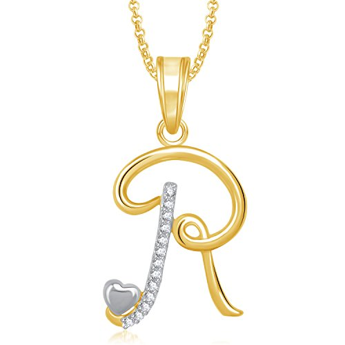 Meenaz Gold Plated  R  Letter Pendent Locket Alphabet Heart With Chain For  Men And Women PS323 Buy Meenaz Gold Plated  R  Letter Pendent Locket  Alphabet ... 86be188794d9d