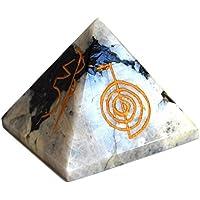 Reiki heilende Energie geladen groß Rainbow Mondstein Gravur Kristall Pyramide (ca. 5cm) preisvergleich bei billige-tabletten.eu