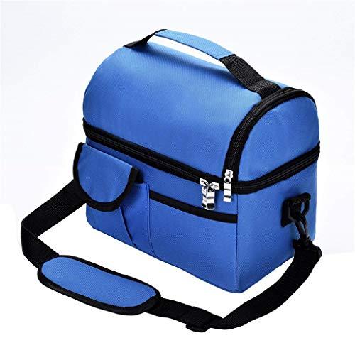 KonJin Lunchtasche Mittagessen Tasche Thermotasche Isoliertasche Picknicktasche für Lebensmitteltransport Arbeit Picknick Große Eisbeutel doppelt isoliert Tasche