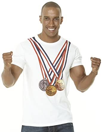 Retreez I'm the Olympic Champion Graphic Printed Men's T-shirt - White - Medium